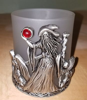 Candle Holder, Wizard, Pewter,  3 1/2 inch High x 3 1/4 inches wide