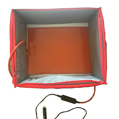 Delivery Bag Heating Element 380mm X 280mm with 12V and 230V charger