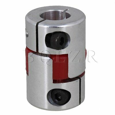 Silver  6x10mm Electrical Industrial Absorb Vibration CNC Plum Coupling