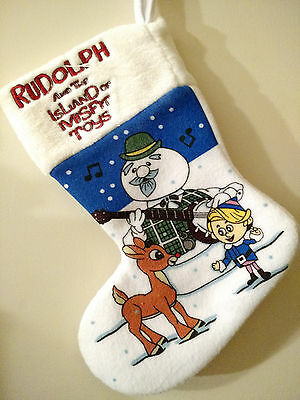 "Rudolph and the Island of Misfit Toys Christmas Stocking 11.5"" NWOT"