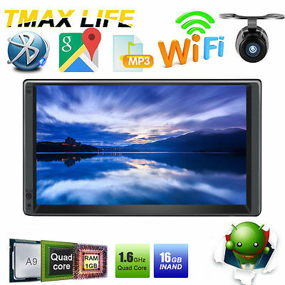 7'' Quad-Core GPS Navi Car Stereo Video Android 4.4 System Wifi Autoradio+Camera