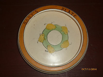 Antique Roseville Pottery Chicks Baby Plate Dish Bowl