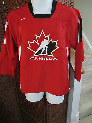 Nike Team Canada Hockey Jersey Red Size Youth L/XL SEWN
