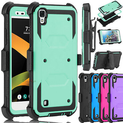 Shockproof Clip Holster Armor Case Phone Cover for LG X Style / Tribute HD LS676