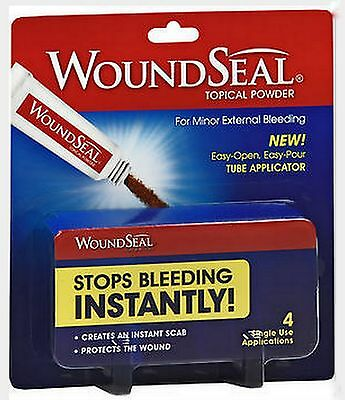 WOUNDSEAL Powder WOUND SEAL 4 Tubes ( 1 package ) FRESH PHARMACY SUPPLY!