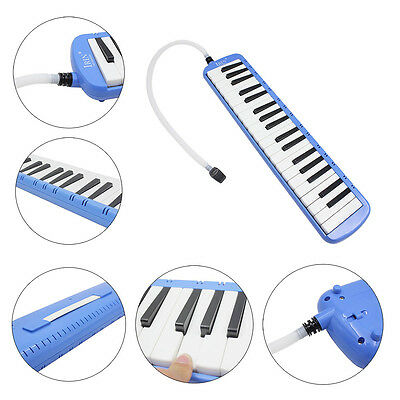 New Blue IRIN 37 Key Piano Style Melodica Musical Instrument With Carrying Case