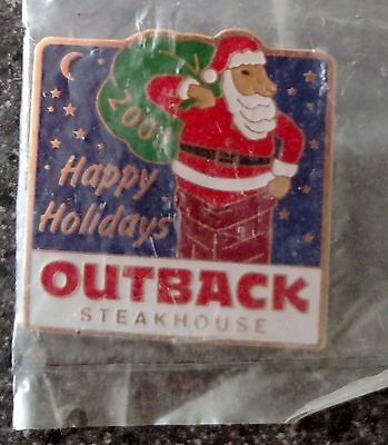 A5810 New in Pkg Outback Steakhouse Happy Holidays 2001 Santa
