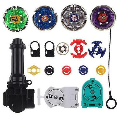 Top Metal Master Rapidity Fight Rare Beyblade 4D Launcher Grip Toy Set  NEW