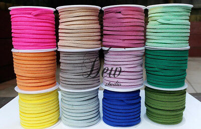 5 Meters 3mm Suede Faux Leather Cord String Jewellery making Bracelet DIY craft