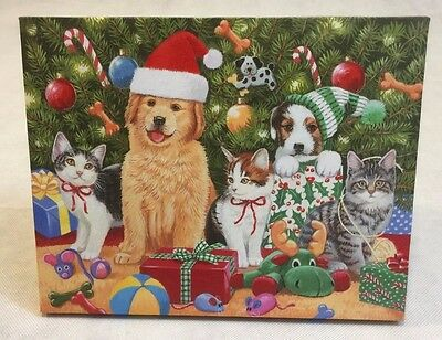 William Vanderasson Art Christmas Puppies Light Up Picture