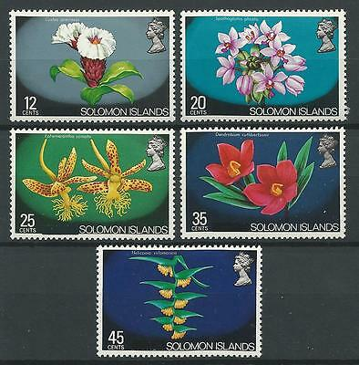 Solomon Islands 1972-3 Sc#239//44 Orchids from Definitive Set(short) MNH Cat $15