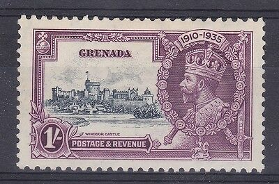DB370) Grenada 1935 Jubilee 1/- slate & purple SG 148 with variety