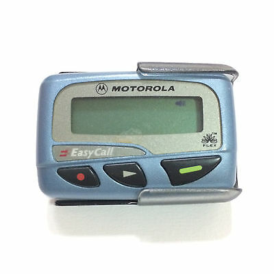 Vintage Rare Used Blue Motorola Pager With Belt Clip Free Shipping From Thailand