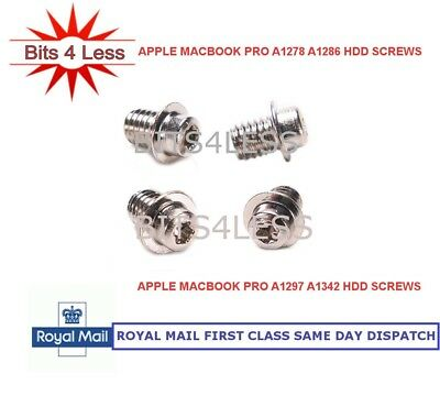 Apple Macbook Pro A1278 A1286 A1297 A1342 Hard disk Drive screw set 4 HDD Screws