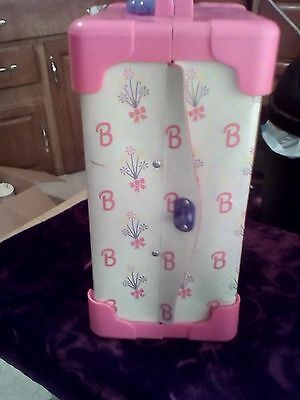 Vintage Barbie Deluxe Doll Trunk Carrying Case with Handle Mattel Pink 1991