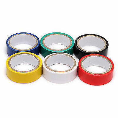 New 5/10/20/50 Roll 6 Color Electrical PVC Insulating Tape 17mm (W) x 300mm (L)