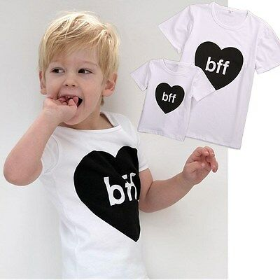 Fashion Dad Father Men Son Kids Boy Love Matching Shirts Family Clothes Tee Tops