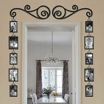 Around A Door Window Collage Photo Picture Frame Scroll Set Wall Art Home Decor