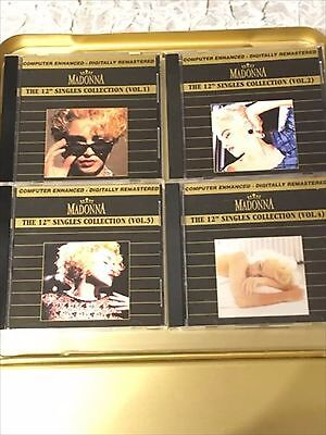 """MADONNA 12"""" Singles Collection (Gold Box Set) 4 set Very Rare from Japan"""