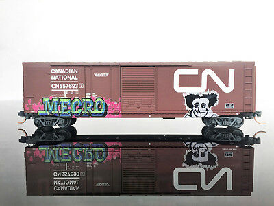 MTL Micro-Trains 076 44 010 50' Standard Box Car WEATHERED/Graffiti CP N Scale