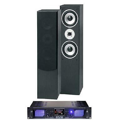 Home Hifi Laptop Stereo Tower Speakers Mp3 Usb Sd Fm Amplifier 700 Watts System