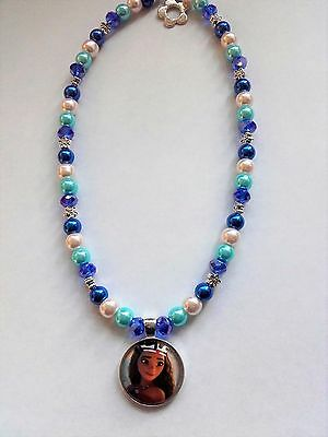 """Pretty Moana children's necklace (hand crafted )  New Disney Film 16 """""""