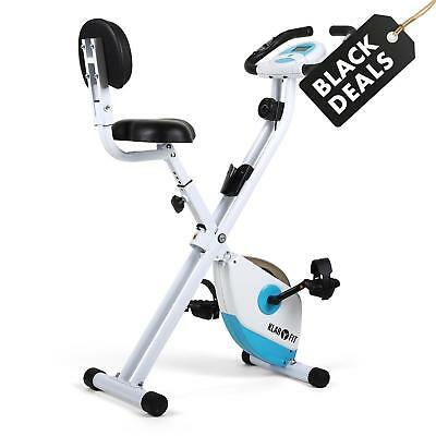 Klarfit X Bike 700 White & Blue Exercise Bicycle Home Fitness Bike Trainer Gym