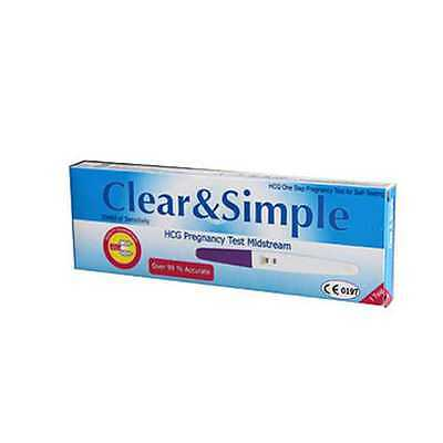 Clear & Simple Pregnancy Test Kit