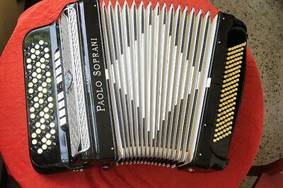Paolo Soprani Accordion C-system 4-reeds 3-foldTremolo Musette, collector item