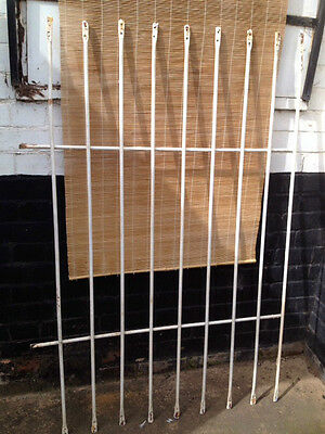 Vintage *WROUGHT IRON Window Security Bars Grille Shabby Chic Garden Decorative