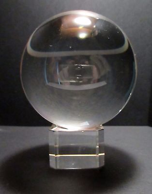 Clear Crystal Sphere Ball 80mm on Stand - Boxed