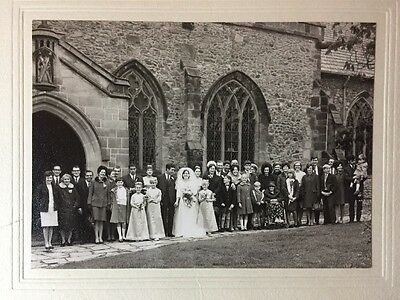 Vintage Real Photograph - #L - Mounted Wedding Picture Leicester Aylestone
