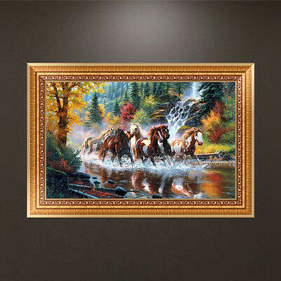 Running Horses 5D Diamond Painting DIY Embroidery Cross Stitch Craft Home Decor