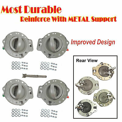 For 2006-2010 Jeep Commander Inside Door Handle Gray Bolts Set 4pcs New DS512