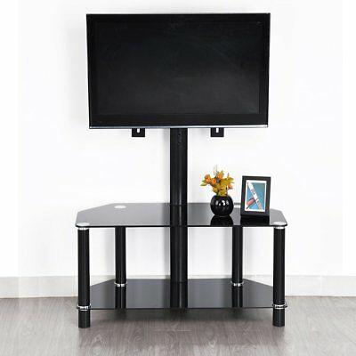 Glass TV Stand with Bracket for 32-48 inch LCD LED Plasma 3D VESA upto 660x450mm