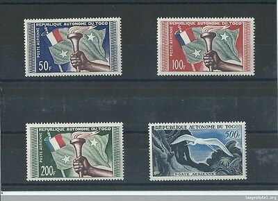 Lot : 022017/097 - Togo 1957 - Yt Pa N° 25/28 Neuf Sans Charniere ** (Mnh) Gomme