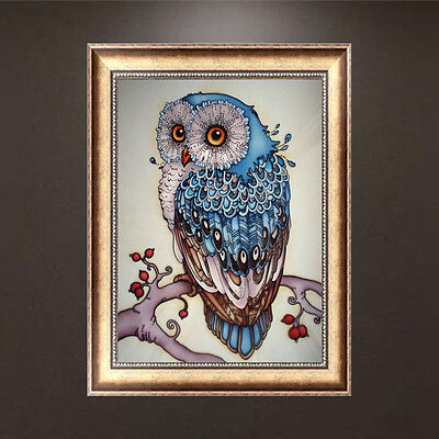 DIY 5D Diamond Painting Owl Embroidery Cross Stitch Crafts Home Wall Decor