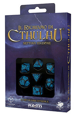 Call Of Cthulhu 7a Edizione Official Dice Set Würfel (Schwarz, Blau)