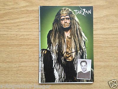 Orig. sign. Autogrammkarte TV Schauspiel Moderation    Ethan Freeman    TARZAN
