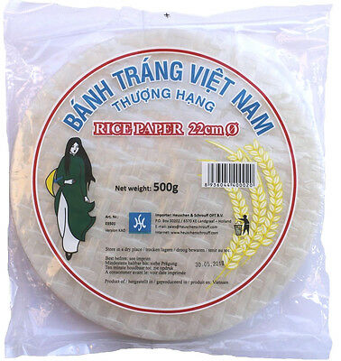 rice paper for Spring rolls oriental Food rice paper round Ø 22cm