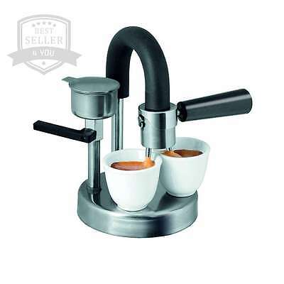 Moka Express 1/2 Cups Stovetop Espresso Maker No Eelectronic Parts MADE IN ITALY