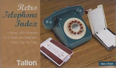 Telephone Index Retro A-Z Slider Flip Up With Magnifyer Stores Upto 400 Contacts