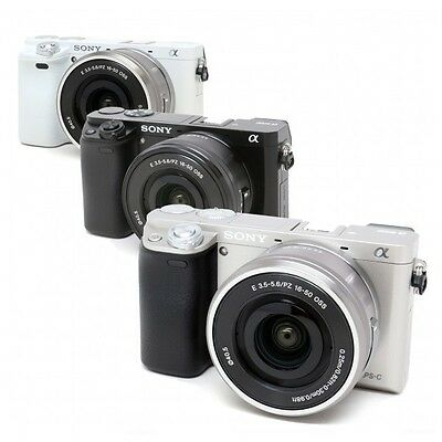 Sony Alpha a6000 Mirrorless Camera 16-50mm Lens Kit (Black, Silver OR White)