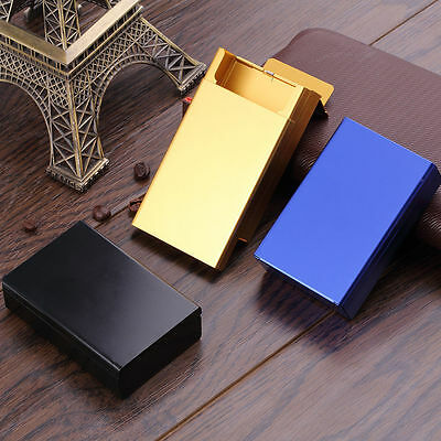 Push Open Aluminum Cigar Cigarette Tobacco Holder Pocket Storage Box Case FY
