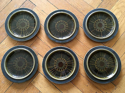 6 Arabia Finland plates (16cm) from Kosmos series - made in 1967