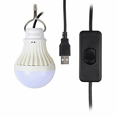 Onite USB LED Light for Camping, Children Bed Lamp, Portable USB LED Bulb, Emerg