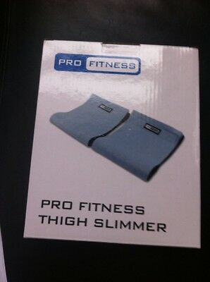 Bnib Pro Fitness Thigh Slimmers X2 In Box One Size Grey Fabric Stays In Place