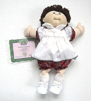 Limited Edition 25th Anniversary Cabbage Patch Kid Doll Brown Hair Blue Eyes