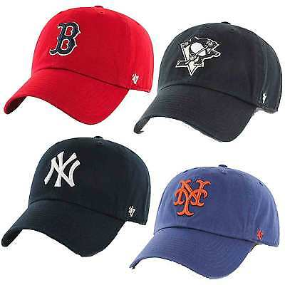 47 Brand MLB Unstructured Adjustable Penguins Yankees Mets Dodgers Baseball Cap