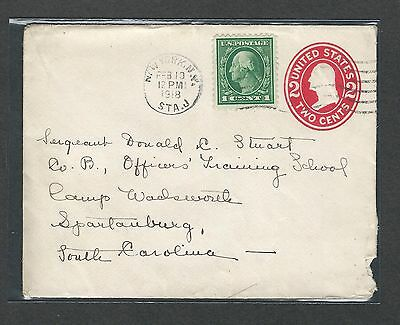 mjstampshobby 1918 US Cover - Field Post VF Cond (Lot1415)
